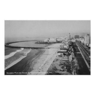 Long Beach, embarcadero del arco iris de Californi Póster