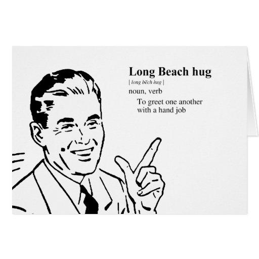 LONG BEACH HUG GREETING CARD