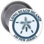 Long Beach Island. 4 Inch Round Button