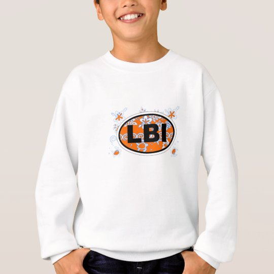 Long Beach Island Euro Oval Design. Sweatshirt