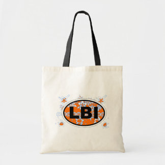 Long Beach Island Euro Oval Design. Tote Bag