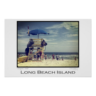 Long Beach Island Lifeguard Stand Poster