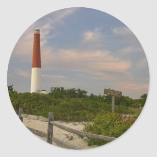 Long Beach Island Light House New Jersey USA Classic Round Sticker