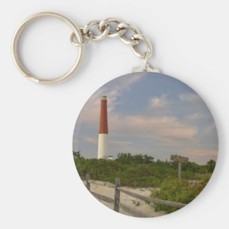 Long Beach Island Light House New Jersey USA Keychain