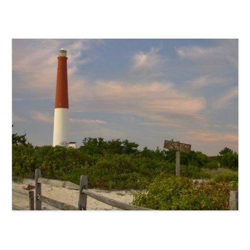 Long Beach Island Light House New Jersey USA Postcard