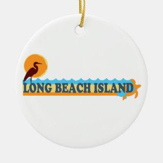 Long Beach Island. Double-Sided Ceramic Round Christmas Ornament