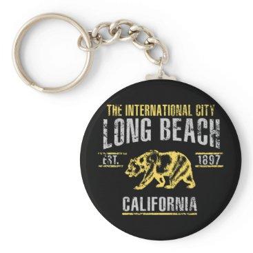 Beach Themed Long Beach Keychain