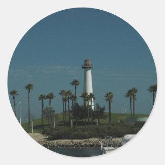 Long Beach Lighthouse Classic Round Sticker