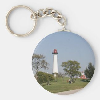 Long Beach Lighthouse Keychain