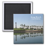 Long Beach Magnet! 2 Inch Square Magnet