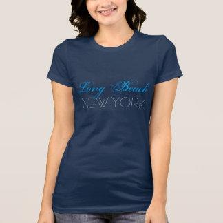Long Beach New York Blue and Black custom T-Shirt