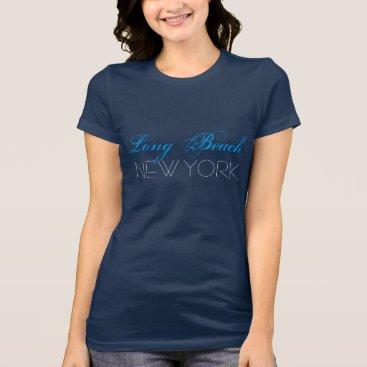Beach Themed Long Beach New York Blue and Black custom T-Shirt