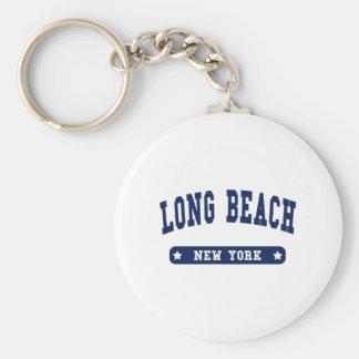 Long Beach New York College Style tee shirts Basic Round Button Keychain