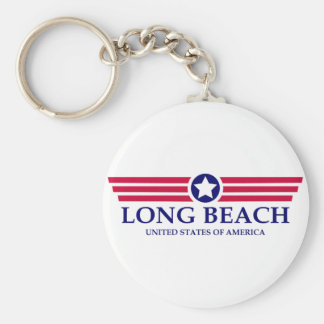 Long Beach NY Pride Basic Round Button Keychain