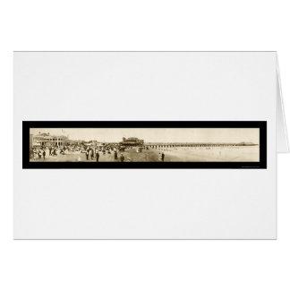 Long Beach Pier CA Photo 1907 Greeting Card