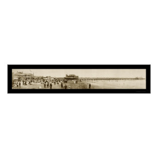 Long Beach Pier, CA Photo 1907 Poster