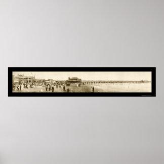 Long Beach Pier CA Photo 1907 Posters