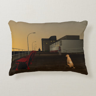 Long Beach Promenade, Long Island, NY Accent Pillow
