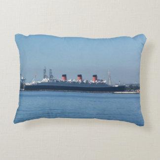 Long Beach Queen Mary Pillow/matching blanket Accent Pillow