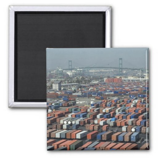 Long Beach Shipping Containers Magnets