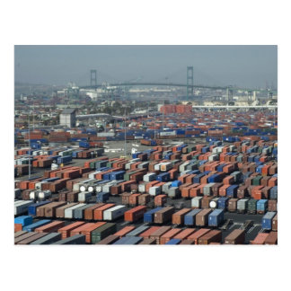 Long Beach Shipping Containers Postcard