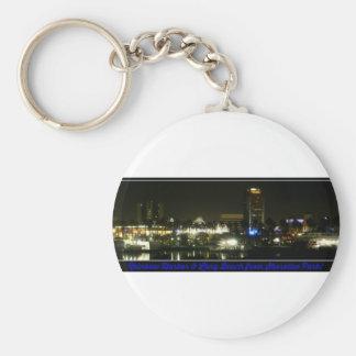 Long Beach skyline from Shoreline Park key chain