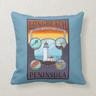 Long Beach, WashingtonTravel Throw Pillow