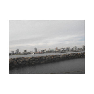 Long Beach Waters Canvas Print