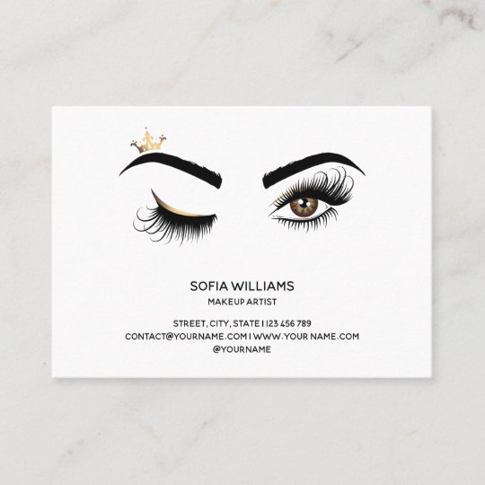 cbe075044ae Long Beautiful Lashes Wink Eye Crown Aftercare Referral Card ...