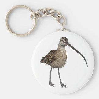 Long-Billed Curlew Basic Round Button Keychain