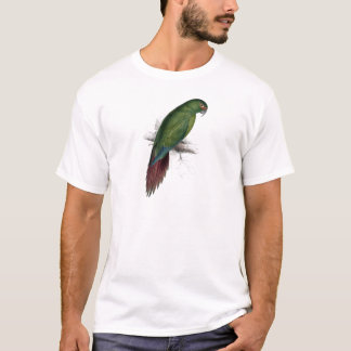 Long -Billed Parrakeet-Maccaw by Edward Lear T-Shirt
