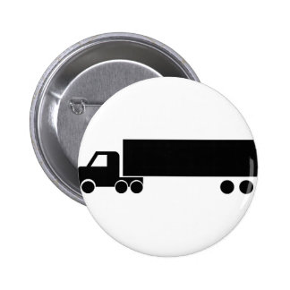 long black truck icon 2 inch round button