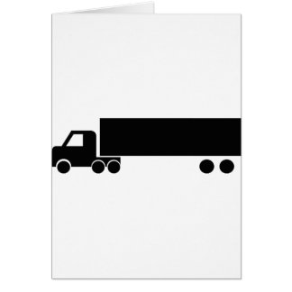long black truck icon greeting card