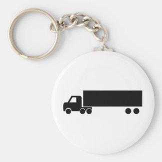 long black truck icon basic round button keychain