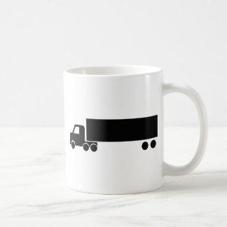 long black truck icon classic white coffee mug