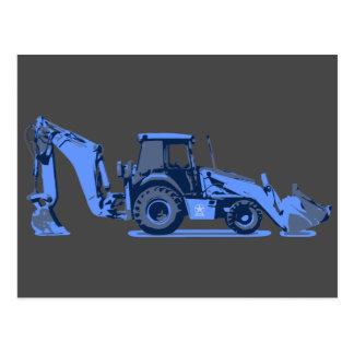 Long Blue Digger Customizable Card Construction Postcards
