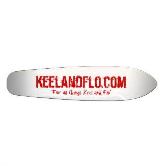 Long board - keel and flo style skateboard deck