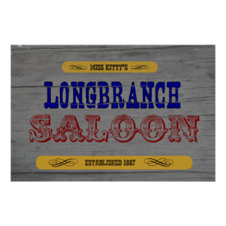 Long Branch Saloon Poster