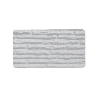 Long brick wall address label