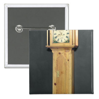 Long-case clock, with enamel painting button