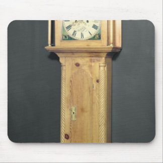 Long-case clock, with enamel painting mouse pad