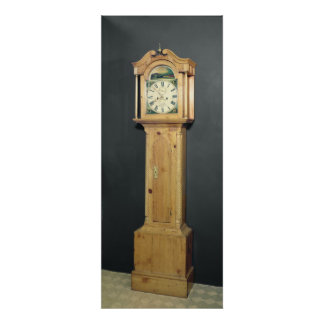 Long-case clock, with enamel painting poster