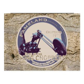 LONG CHOPPER Motorcycle Race Patch Postcard