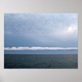 Long cloud over Lake Michigan Poster