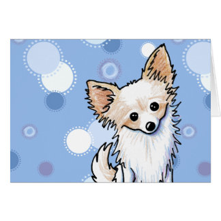 Long Coat Chihuahua Card