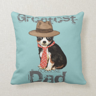 Long Coat Chihuahua Dad Throw Pillow