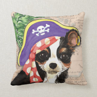 Long Coat Chihuahua Pirate Throw Pillow