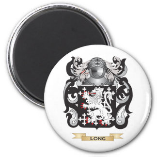 Long Coat of Arms (Family Crest) 2 Inch Round Magnet