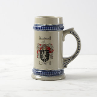 Long Coat of Arms Stein / Long Family Crest Stein 18 Oz Beer Stein