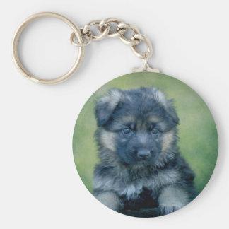 Long Coated German Shepherd Puppy Key Chain